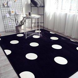 Ukeler Black and White Children Crawling Mat Non-slip Thicken Washable Carpet