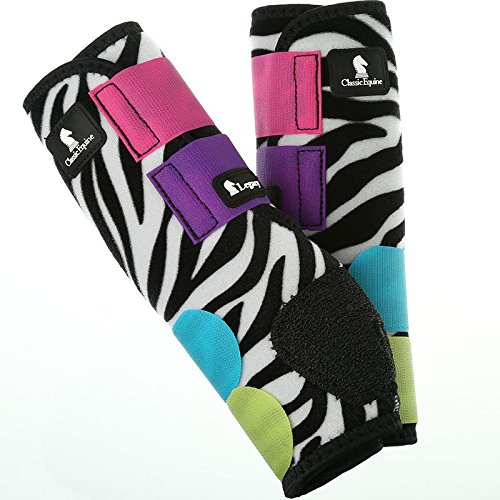 Classic Rope Company Legacy System Hind Splint Boots Zebra Colorburst M