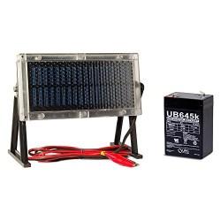 Universal Power Group 6V 4.5Ah Battery for Wildgame W225D Feeder + 6V Solar Panel Charger