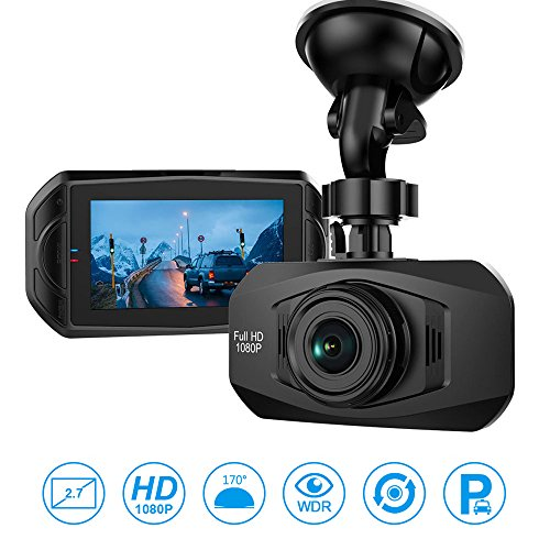 Car Camera - Dash Cam 170 Wide Angle Car Black Box Camera, Full HD Dashboard Camera for Cars
