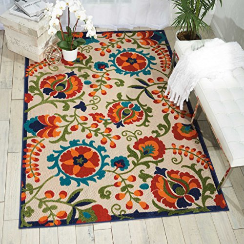 Nourison Aloha ALH17 Multicolor Indoor/Outdoor Area Rug 7 Feet 10 Inches by 10 Feet 6 Inches
