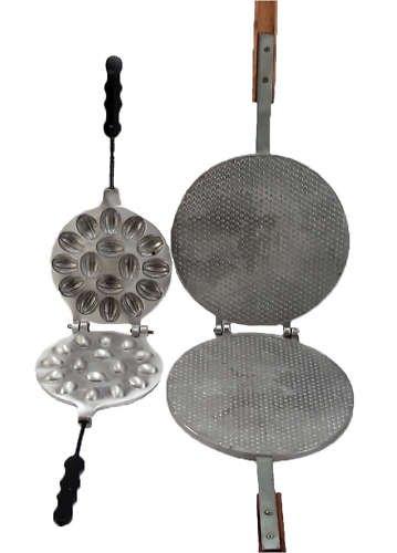 Two Metal Mold 16 Russian Oreshki + Waffle + Recipe!
