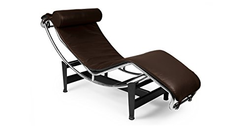 Kardiel Gravity Chaise Lounge, Choco Brown Aniline Leather