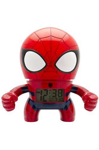 BulbBotz 2020039Spider Man 7.5 Inches Digital Quartz Light Up Alarm Clock