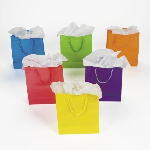 Fun Express Medium Neon Gift Bags, 2-Dozen
