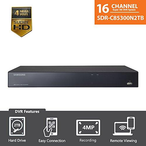 Samsung 16 Channel Super HD 4 MP Security DVR with 2TB Hard Drive SDR-B85300N