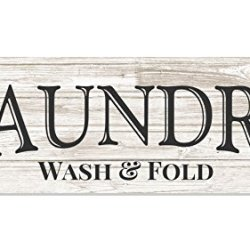 Laundry Wash and Fold Rustic Wood Wall Sign 6x18