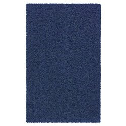 Maples Rugs Area Rugs, [Made in USA][Catriona] 5' x 7' Non Slip Padded Large Rug for Living Room, Bedroom, and Dining Room - Navy Blue