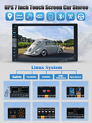 7 Double 2Din Touch Screen Car MP5 MP3 Player bluetooth