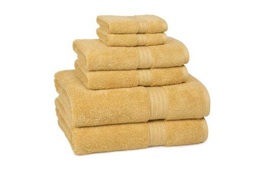 CassaDecor Set of 6 100% Egyptian Cotton Towels - Kassadesign by Kassatex, Gold