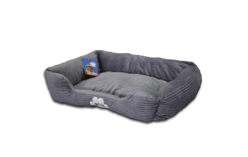 Sofantex Paw Print Pet Bed, 28-Inch, Red