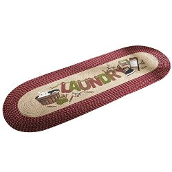 Vintage Laundry Room Decorative Braided Runner