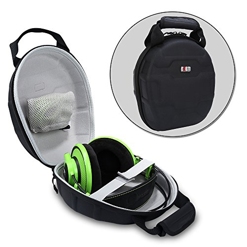 BUBM Hard Shell Waterproof Headphone / Headset Travel Protective Case Organiser (Black)