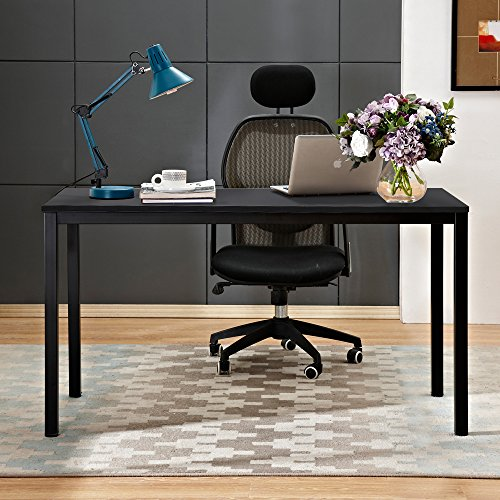 """Need Computer Desk 55"""" Large Size Office Desk with BIFMA Certification Computer Table Writing Desks Black Brown"""