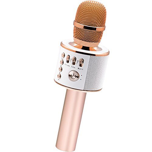 BONAOK Wireless Bluetooth Karaoke Microphone 3-in-1 Portable Speaker Machine for Android/iPhone/iPad/Sony/PC or All Smartphone