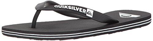 Quiksilver Men's Molokai Sandal, Black/Black/White, 11 M US