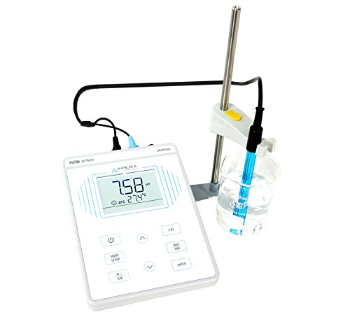 Apera Instruments PH700 Benchtop Lab pH Meter, 0.01 pH Accuracy, 1-3 Points Auto Calibration, 3-in-1 pH/Temp. Electrode