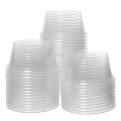 Crystalware, Disposable 2oz. Plastic Portion Cups Without Lids, Condiment Cup, Jello Shot, Soufflé Portion, Sampling Cup, 100 Cups – Clear (100 Cups, 2oz.)