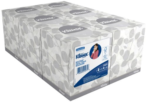 """Kimberly-Clark Kleenex Boutique Facial Tissue Mouchoirs, 8.4"""" Length x 8"""" Width, White, 6 Boxes of 95 sheets (Pack of 570)"""