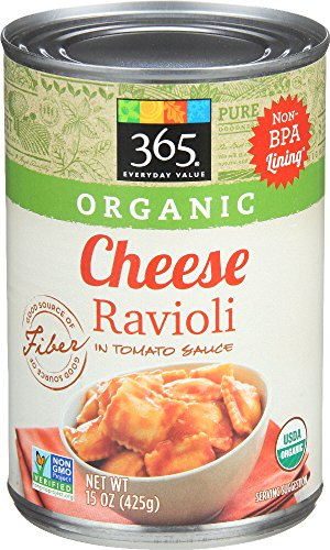 365 Everyday Value, Organic Cheese Ravioli in Tomato Sauce, 15 Ounce