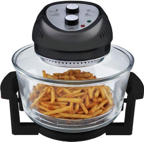 Big Boss Oil-less Air Fryer, 16 Quart, 1300 watt, Black
