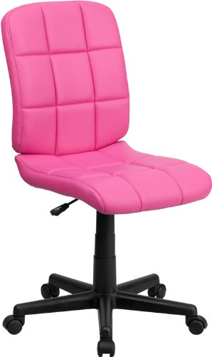 Flash Furniture Mid-Back Pink Quilted Vinyl Swivel Task Chair