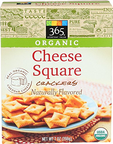 365 Everyday Value, Organic Cheese Square Crackers, 7 Ounce