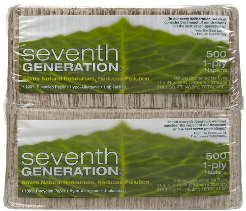 Seventh Generation Natural Lunch Napkins - 500 ct - 2 pk