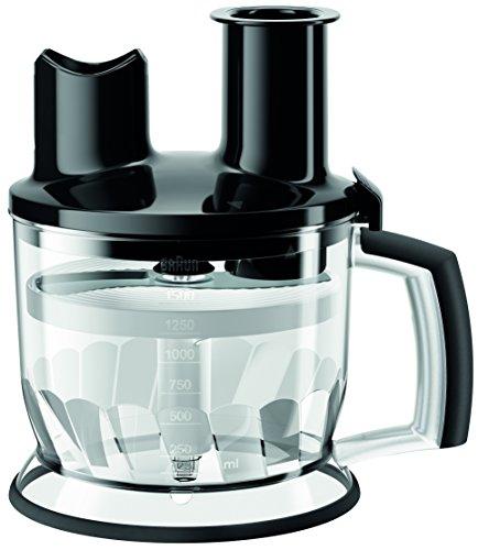 Braun Multiquick Hand Blender 6-Cup Food Processor Attachment, Black