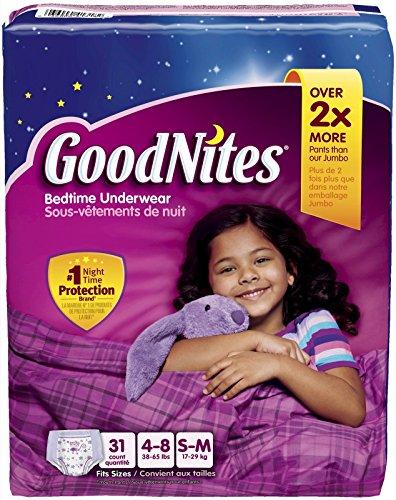 Goodnites Bedtime Underwear, 31 count,(S/M - 4-8 size)