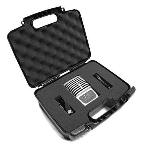 CASEMATIX Portable Studio Equipment Microphone Travel Case - Fits MV51 Digital Large Diaphragm Condenser Mic , Mvi Audio Interface , MV88 , MVL , Pop Filters , IOS Cable and More