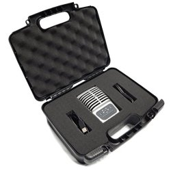 CASEMATIX Portable Studio Equipment Microphone Travel Case - Fits MV51 Digital Large Diaphragm Condenser Mic , Mvi Audio Interface , MV88 , MVL , Pop Filters , IOS Cable and More