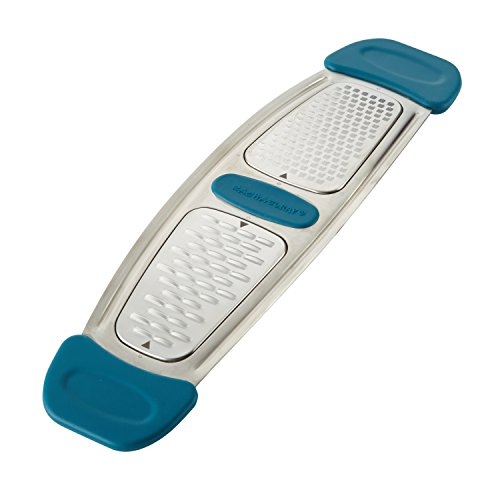 Rachael Ray Stainless Steel Multi-Grater with Silicone Handle, Marine Blue
