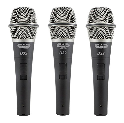 CAD Audio Pack of 3 D32 Supercardioid Dynamic Vocal Microphone
