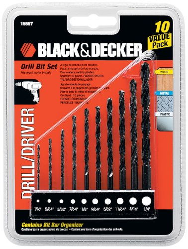 BLACK+DECKER 10-Piece Drill Bit Set