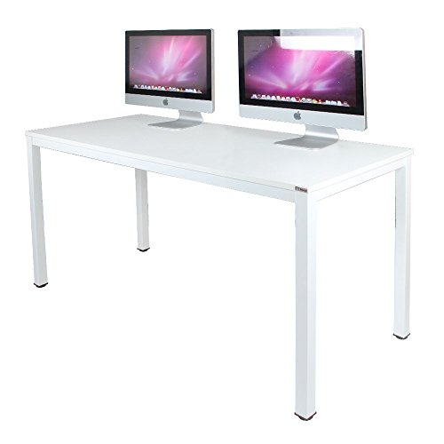 """Need Office Desk Computer Desk Large Size Table Game Table Wood, 63"""", White"""