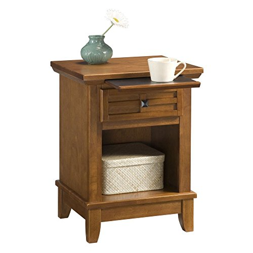 Home Styles Arts & Crafts 1 Drawer Nightstand - Cottage Oak