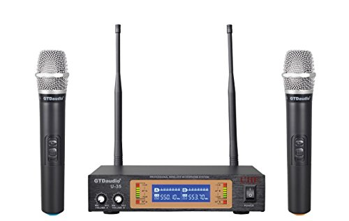 GTD Audio Wireless Microphone System with 2 microphones