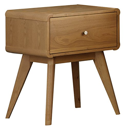 Homelegance Anika Danish Mid-Century Nightstand, Light Oak