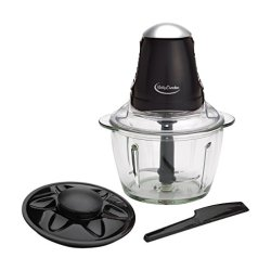 Betty Crocker 4 Cup Glass Chopper with Spatula, Clear