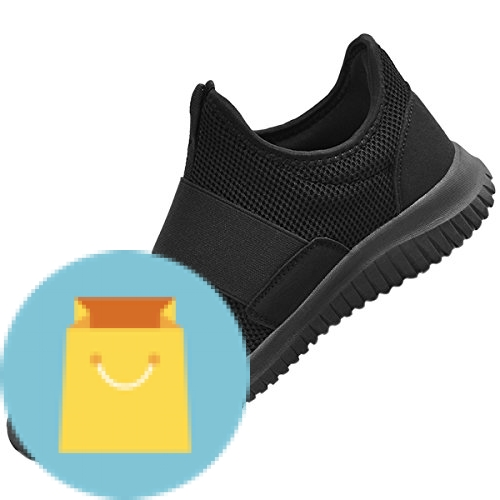 QANSI Mens Running Shoes Comfortable Tennis Shoes Wide Walking Shoes Black 8.5 D(M) US