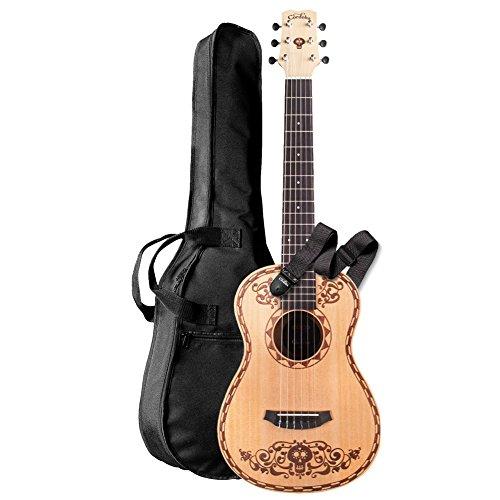 Cordoba Guitars Coco x Cordoba Mini Guitar SP/MH W/B Disney/Pixar Mini Spruce Acoustic Guitar
