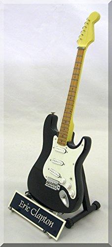 ERIC CLAPTON Miniature Guitar Fender Stratocaster Blackie w/ Name Tag