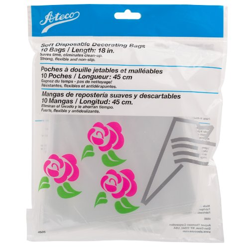 Ateco Soft Disposable Decorating Bags, 18-Inch, Pack of 10, Made in USA