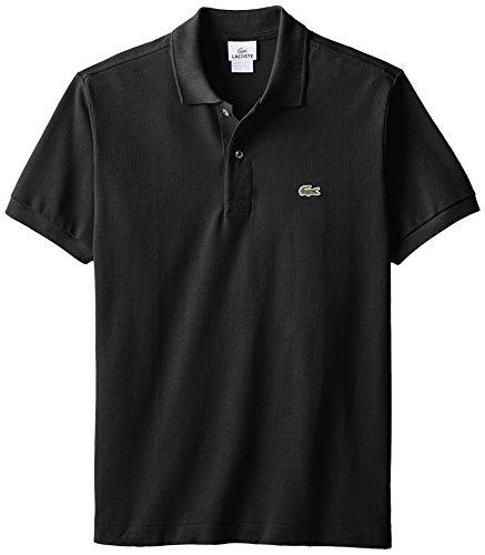 Lacoste Men's Short Sleeve Pique L.12.12 Classic Fit Polo Shirt, Black, 4