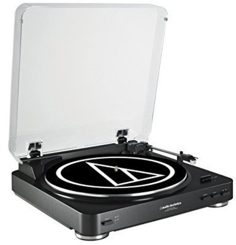 Audio Technica Fully Automatic Belt-Drive Stereo Turntable (USB & Analog), Black