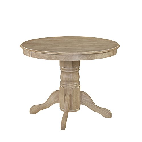 Home Styles Classic Pedestal Dining Table in White Wash Finish
