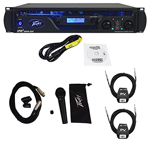 Peavey IPR2 2000 DSP 1,800Watts Power Amplifier w/EQ, Crossover+Mic + (2) Cables