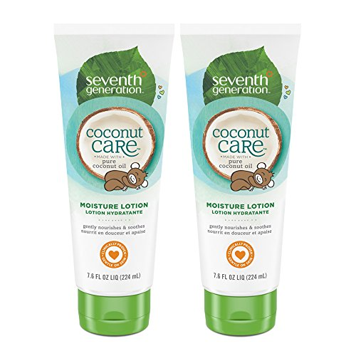 Seventh Generation Baby Lotion with Moisturizing Coconut Care, 7.6 oz (2 count)