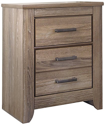 Ashley Furniture Signature Design - Zelen Nightstand - Vintage Finish - Warm Gray